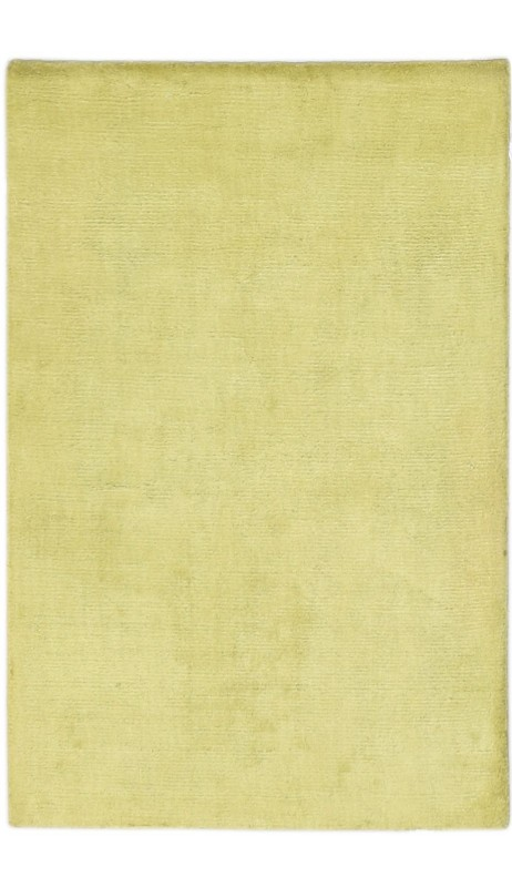 Modern Handloom Silk Gold 2' x 3' Rug - pr000642