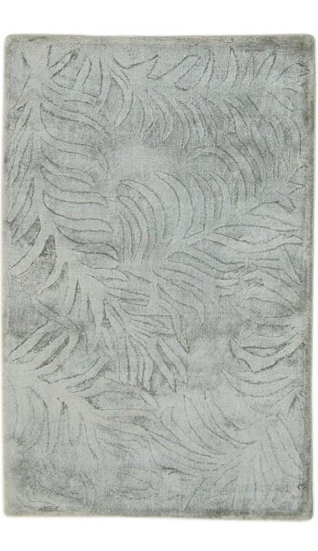 Modern Handloom Silk Grey 2' x 3' Rug - pr000645