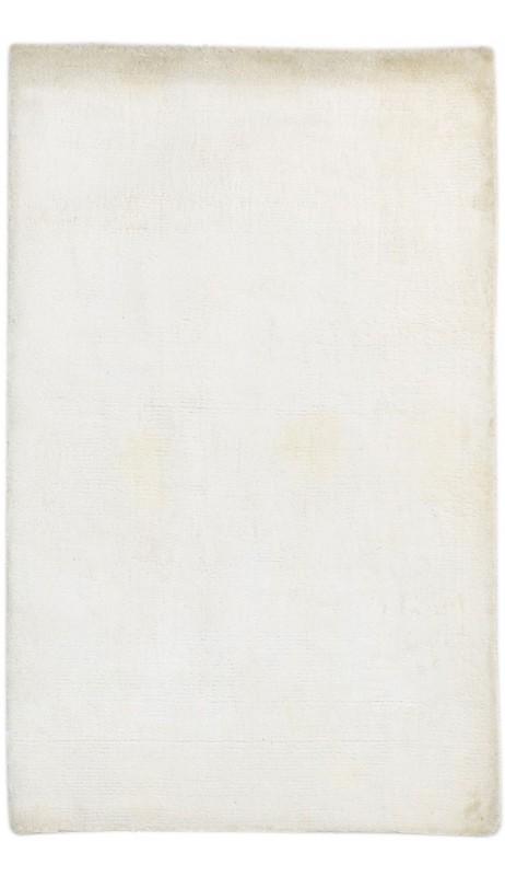 Modern Handloom Silk Ivory 2' x 3' Rug - pr000656