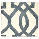 Modern Hand Tufted Wool Ivory 2' x 2' Rug