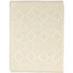Modern Hand Woven Wool Cream 2' x 3' Rug
