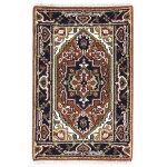 Traditional-Persian/Oriental Hand Knotted Wool Rust 2' x 3' Rug