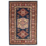 Traditional-Persian/Oriental Hand Knotted Wool Black 2' x 3' Rug
