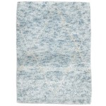 Modern Hand Knotted Wool / Silk Blue 2' x 3' Rug - irfn000029