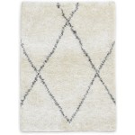 Modern Hand Knotted Wool / Silk Ivory 2' x 3' Rug - irfn000031