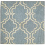 Modern Hand Tufted Wool Blue 2' x 2' Rug - pr000601