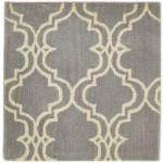 Modern Hand Tufted Wool Grey 2' x 2' Rug - pr000605