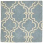 Modern Hand Tufted Wool Blue 2' x 2' Rug - pr000606