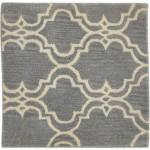 Modern Hand Tufted Wool Grey 2' x 2' Rug - pr000609