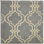 Modern Hand Tufted Wool Grey 2' x 2' Rug - pr000611