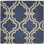Modern Hand Tufted Wool Blue 2' x 2' Rug - pr000612