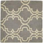 Modern Hand Tufted Wool Grey 2' x 2' Rug - pr000614