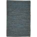 Modern Hand Knotted Jute Charcoal 2' x 3' Rug - pr000762