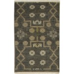 Traditional Hand Knotted Wool Charcoal 2' x 3' Rug - pr000766
