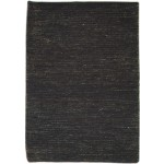 Modern Hand Knotted Jute Charcoal 2' x 3' Rug - pr000771