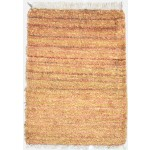 Modern Hand Knotted Jute Gold 2' x 3' Rug