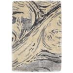 Modern Hand Tufted Silk Beige 2' x 3' Rug