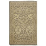 Traditional Hand Knotted Wool Brown 2' x 3' Rug - rh000298