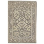 Traditional Hand Knotted Wool Brown 2' x 3' Rug - rh000300