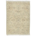 Traditional Hand Knotted Wool / Silk Beige 2' x 3' Rug - rh000301
