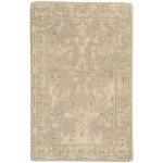 Traditional Hand Knotted Wool / Silk Beige 2' x 3' Rug - rh000504