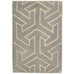 Modern Hand Tufted Wool Grey 2' x 3' Rug - rh000570