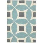 Modern Hand Tufted Wool Blue 2' x 3' Rug - rh000571
