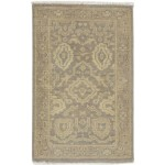 Traditional Hand Knotted Wool Brown 2' x 3' Rug - rh000578