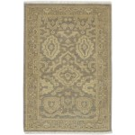 Traditional Hand Knotted Wool Brown 2' x 3' Rug - rh000579