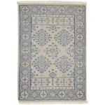 Traditional-Persian/Oriental Hand Knotted Wool Ivory 2' x 3' Rug