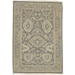 Traditional Hand Knotted Wool Brown 2' x 3' Rug - rh000581