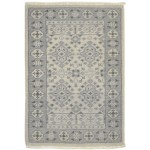 Traditional Hand Knotted Wool Ivory 2' x 3' Rug - rh000584