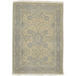 Traditional Hand Knotted Wool Beige 2' x 3' Rug - rh000589