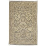 Traditional Hand Knotted Wool Brown 2' x 3' Rug - rh000590