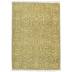 Traditional Hand Knotted Wool Sage 2' x 3' Rug - rh000596