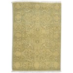 Traditional Hand Knotted Wool Sage 2' x 3' Rug - rh000598