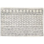 Modern Hand Knotted Wool Grey 3' x 2' Rug