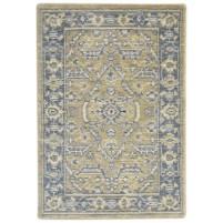 Traditional-Persian/Oriental Jacquard Loom Wool Beige 2' x 3' Rug