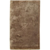 Modern Handloom Silk Brown 2' x 3' Rug - pr000646